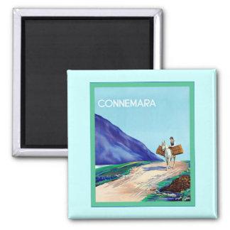 Connemara ~ Vintage Irish Travel 2 Inch Square Magnet