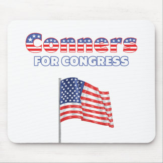 Conners for Congress Patriotic American Flag Mouse Pad