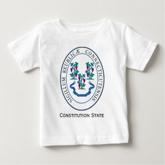 Conneticut State Seal and Motto Baby T-Shirt