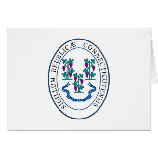 Conneticut State Seal and Motto Card