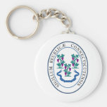 Conneticut State Seal and Motto Keychain