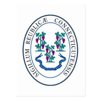Conneticut State Seal and Motto Postcard
