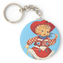 Connie Cowgirl Keychain