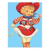 Connie Cowgirl Postcard
