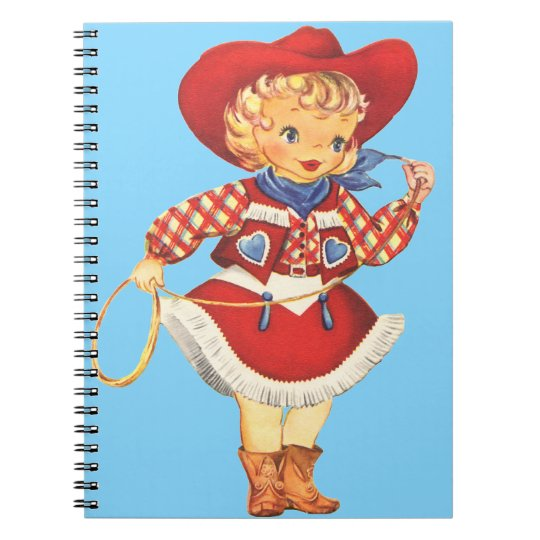 Connie Cowgirl Spiral Notebook