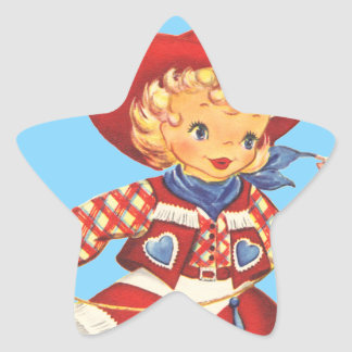 Connie Cowgirl Star Sticker