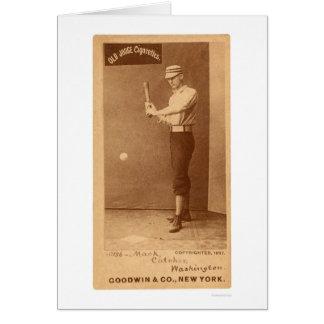Connie Mack Baseball 1887 Greeting Card
