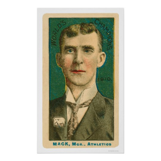Connie Mack Manager Baseball 1910 Poster
