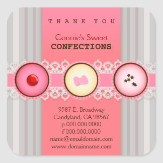 Connie's Sweet Confection Thank You Bakery Sticker
