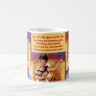 Conniving pin-up temptress crispens her confection classic white coffee mug