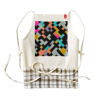 Connnected shapes abstract design zazzle HEART apron