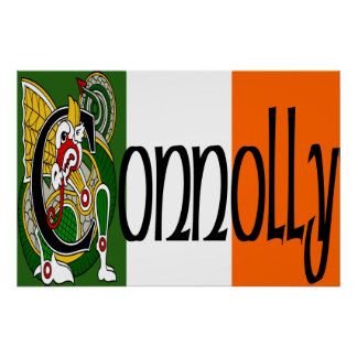 Connolly Celtic Dragon Poster Print