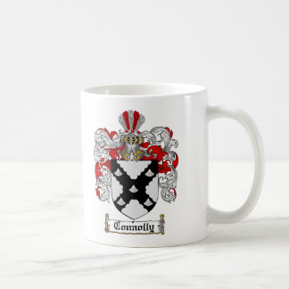 CONNOLLY FAMILY CREST -  CONNOLLY COAT OF ARMS COFFEE MUG