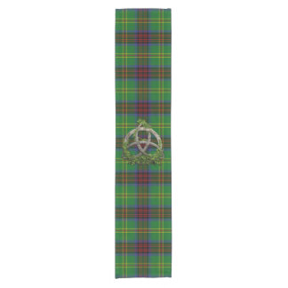 Connolly Hunting Tartan And Celtic Trinity Knot Short Table Runner
