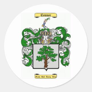 connor classic round sticker