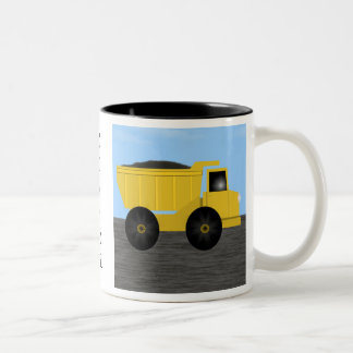 Connor Dump Truck Personalized Name Mug