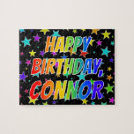 "[ Thumbnail: ""Connor"" First Name, Fun ""Happy Birthday"" Jigsaw Puzzle ]"