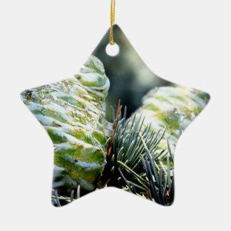 Cono de abeto ornamento de navidad