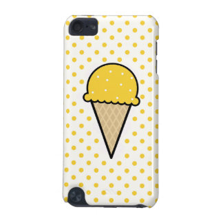 Cono de helado ambarino amarillo