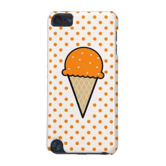 Cono de helado anaranjado