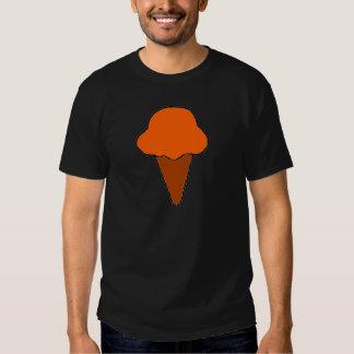Cono de helado anaranjado remera
