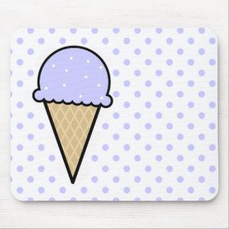 Cono de helado azul de la lavanda alfombrilla de ratones