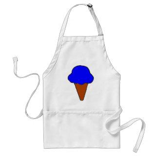 Cono de helado azul delantal