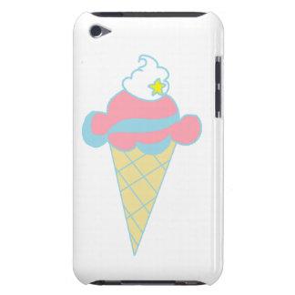 Cono de helado azul rosado de la estrella del remo barely there iPod coberturas