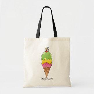Cono de helado bolsa lienzo