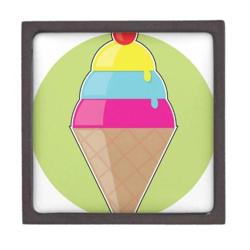 Cono de helado cajas de joyas de calidad