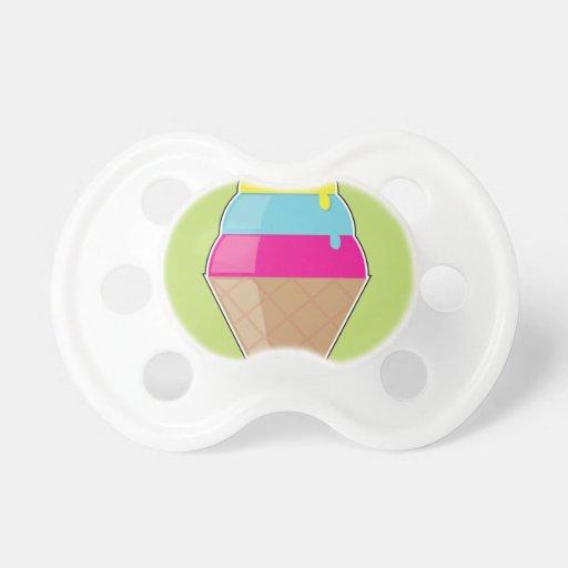 Cono de helado chupetes para bebés
