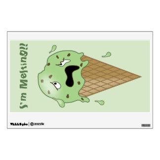 Cono de helado de fusión del dibujo animado (estoy vinilo decorativo