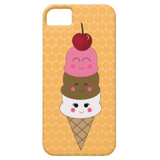 Cono de helado de Kawaii en naranja iPhone 5 Fundas