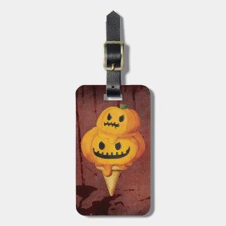 Cono de helado de la calabaza de Halloween Etiquetas Bolsas