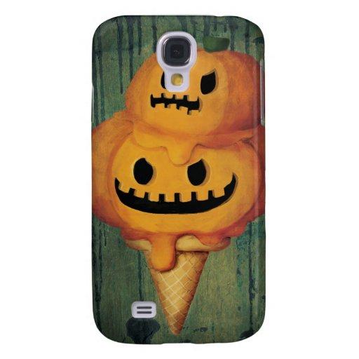 Cono de helado de la calabaza de Halloween Funda Para Galaxy S4