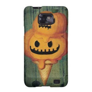 Cono de helado de la calabaza de Halloween Samsung Galaxy S2 Fundas