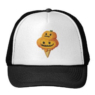 Cono de helado de la calabaza de Halloween Gorros Bordados