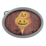 Cono de helado de la calabaza de Halloween Hebilla Cinturón