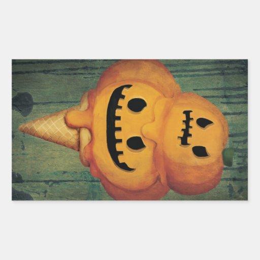 Cono de helado de la calabaza de Halloween Pegatinas