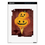Cono de helado de la calabaza de Halloween Pegatina Skin Para iPad 3