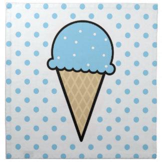 Cono de helado de los azules cielos servilleta de papel
