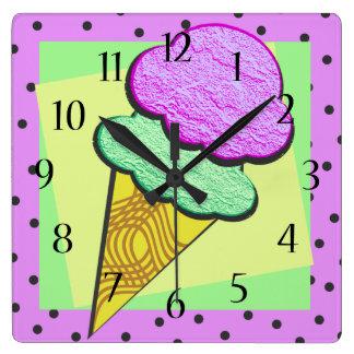 Cono de helado Deco Relojes De Pared