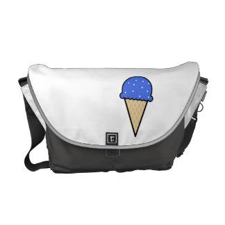 Cono de helado del azul real bolsa de mensajería