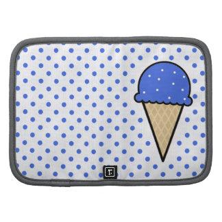 Cono de helado del azul real organizadores