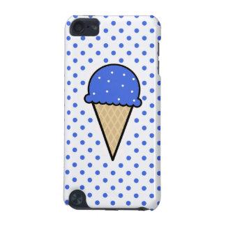Cono de helado del azul real