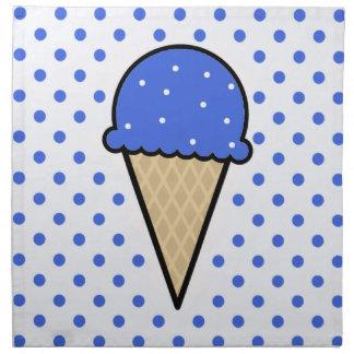 Cono de helado del azul real servilleta