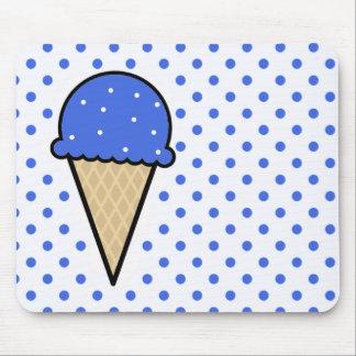 Cono de helado del azul real tapetes de raton