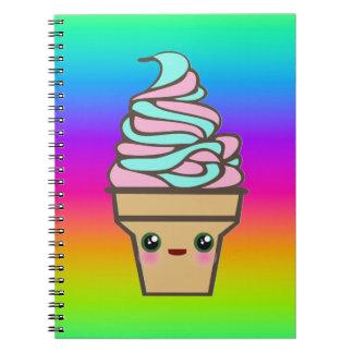 Cono de helado del delirio de Kawaii Libreta