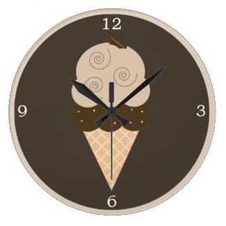 Cono de helado del grano de café de Brown Relojes
