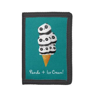 Cono de helado dulce del oso de panda